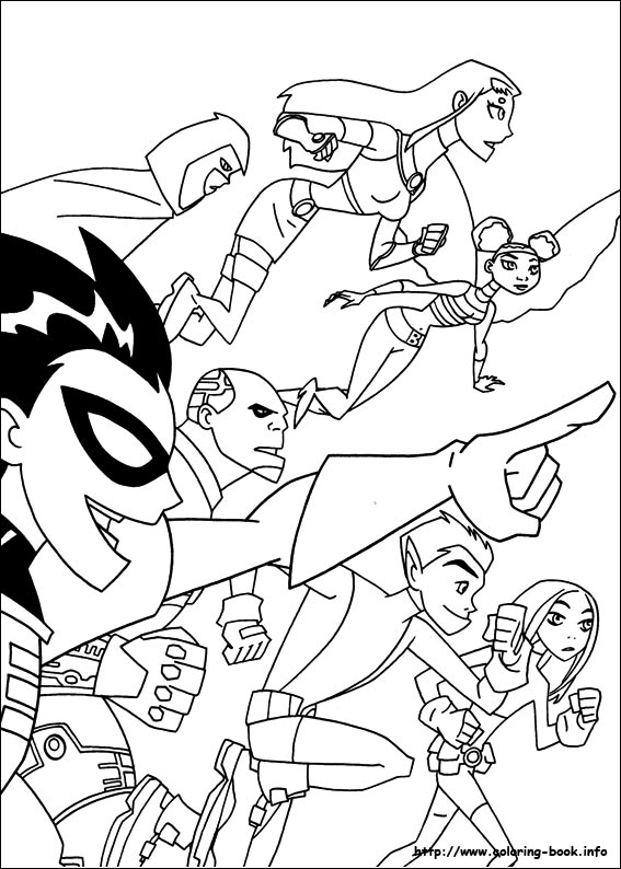 Titans coloring picture