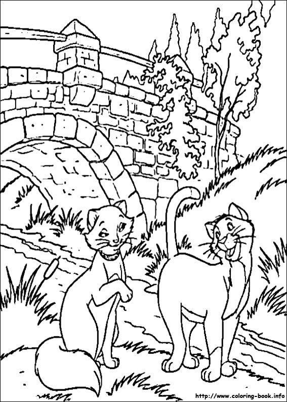 index coloring pages source - Aristocats Kittens Coloring Pages