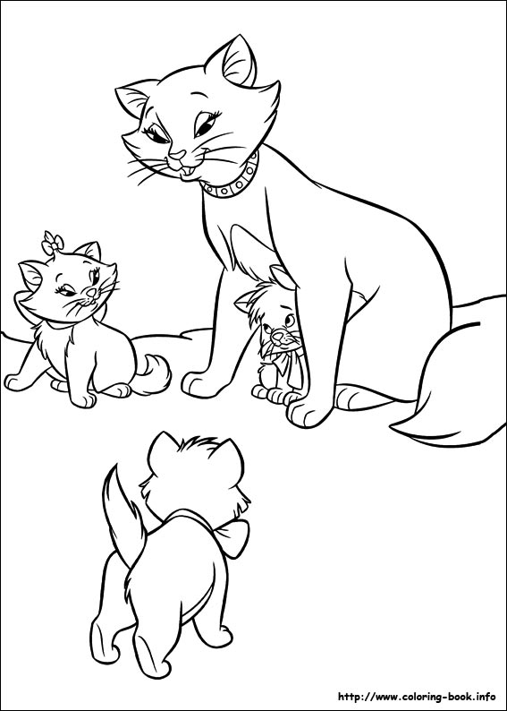 The Aristocats Coloring Pages On Coloringbookinforhcoloringbookinfo: Marie Cat Coloring Pages At Baymontmadison.com