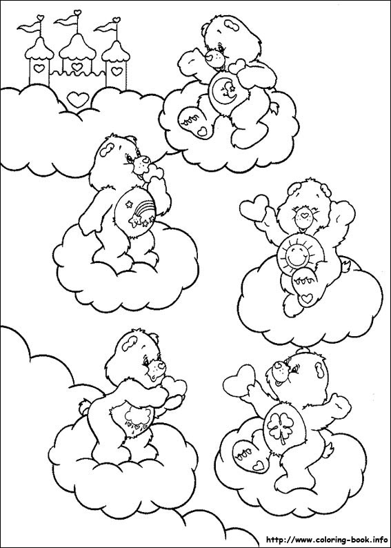 photograph relating to Care Bear Belly Badges Printable named The Treatment Bears coloring web pages upon