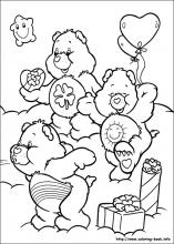 The Care Bears coloring pages on ColoringBookinfo