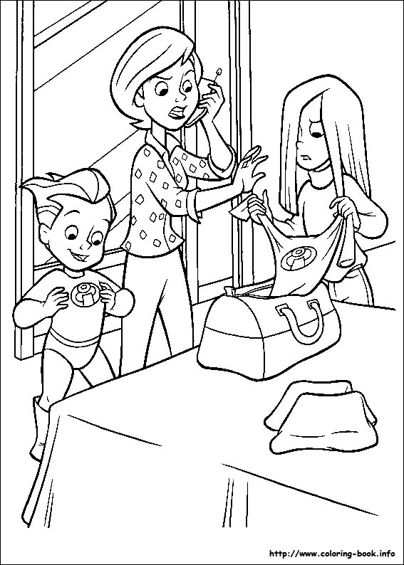 the incredibles coloring picture