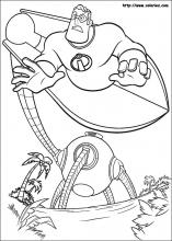 The Incredibles Printable Coloring Pages