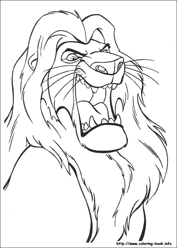 the lion king coloring picture - Lion King Coloring Book