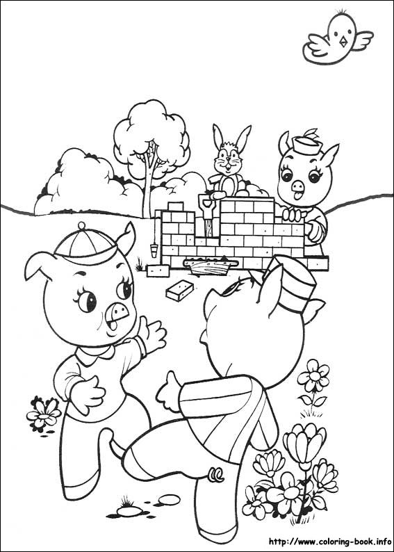 Three Little Pigs Drawing The Three Little Pigs Coloring