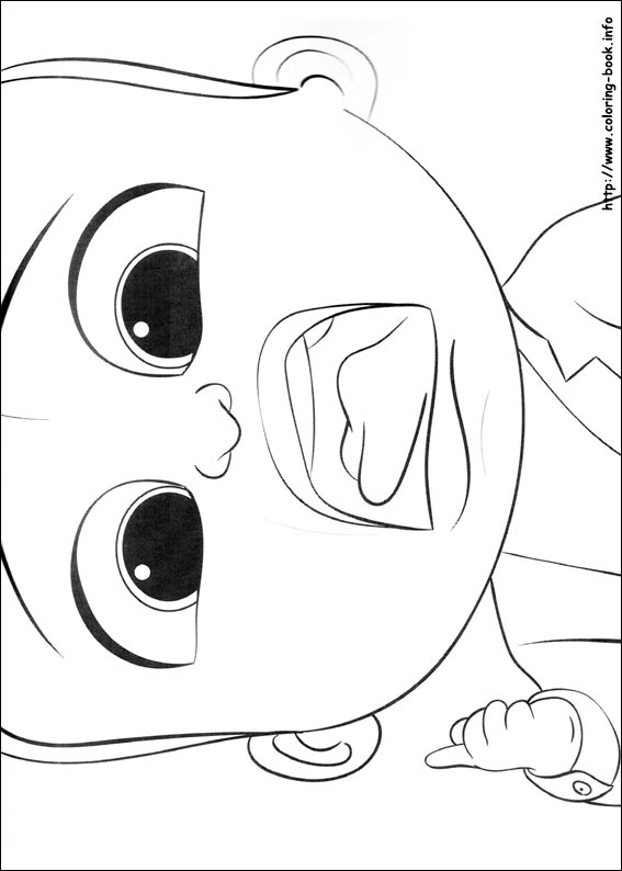 The Boss Baby Coloring Picture