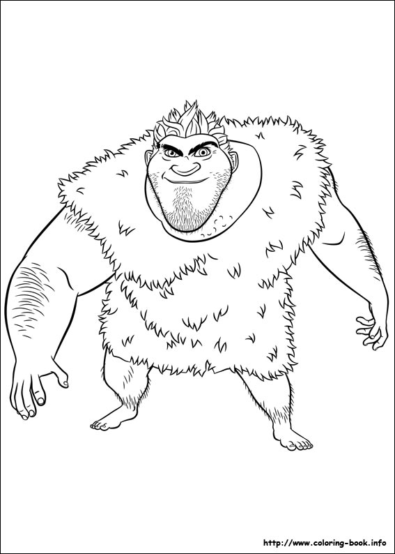 The Croods coloring book