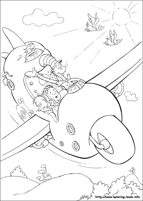27 the cat in the hat pictures to print and color last updated january 30th - The Cat In The Hat Coloring Page