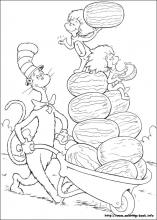 The cat in the hat coloring pages on Coloring-Book.info
