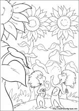 The Cat In Hat Coloring Pages On Book