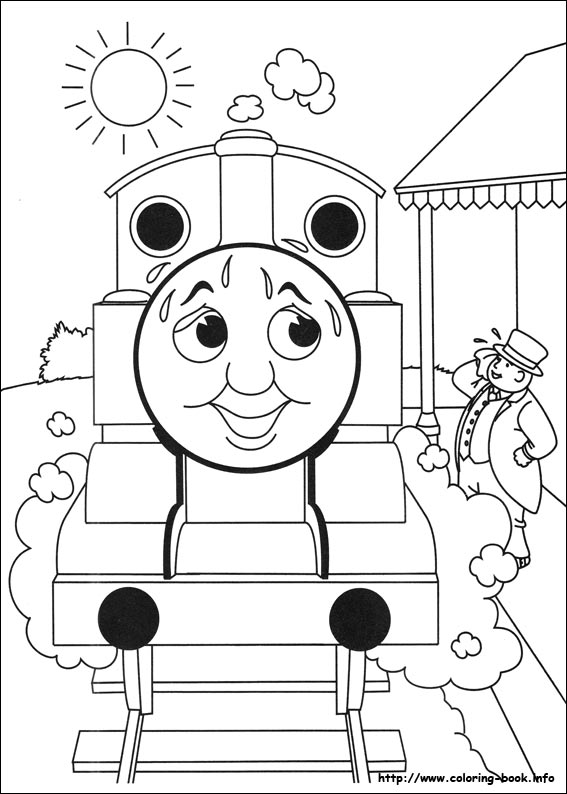 thomas and friends coloring picture - Thomas Friend Coloring Pages