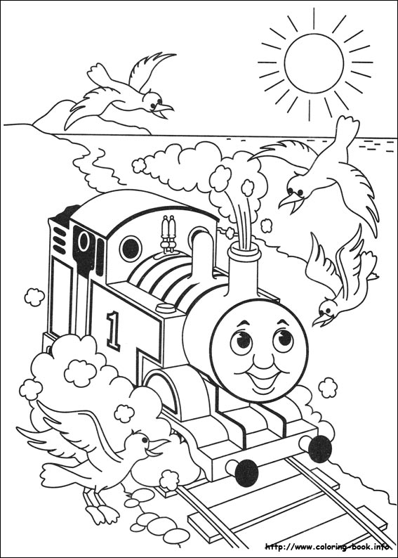 Thomas And Friends Coloring Pages On Book
