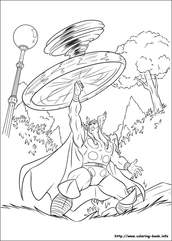 Thor coloring pages on ColoringBookinfo