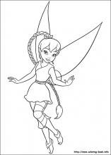 Tinkerbell coloring pages on ColoringBookinfo