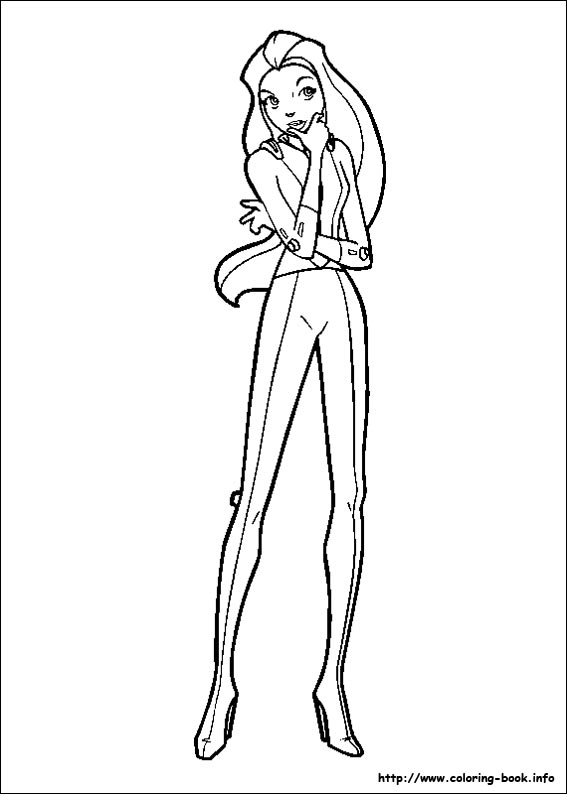 Totally spies coloring picture for Totally spies coloring pages