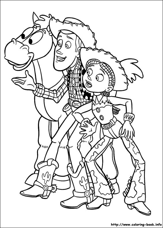 Story coloring picture