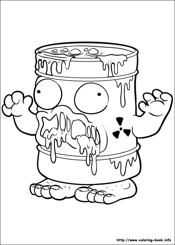 The Trash Pack Coloring Pages On Coloring Book Info