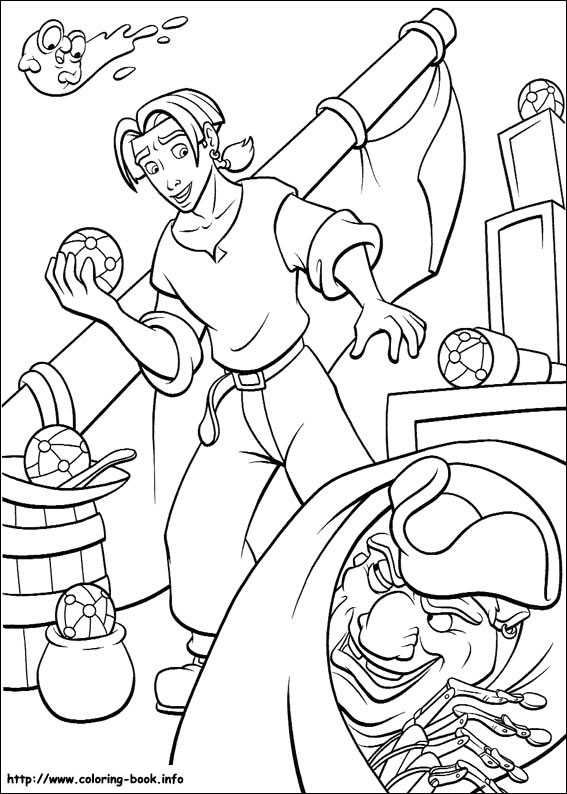 Planet coloring picture