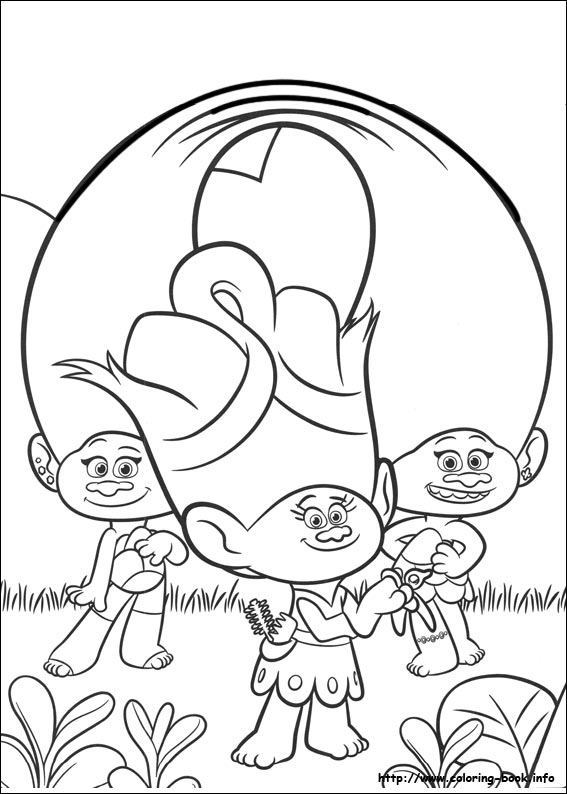 photograph relating to Trolls Printable Coloring Pages titled Trolls coloring webpages upon