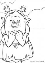 picture about Trolls Printable Coloring Pages known as Trolls coloring webpages upon