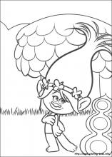 Trolls coloring pages on ColoringBookinfo