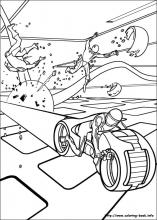 tron coloring pages on coloring bookinfo - Tron Coloring Pages