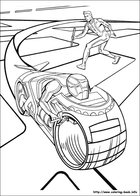 Tron Coloring Pages
