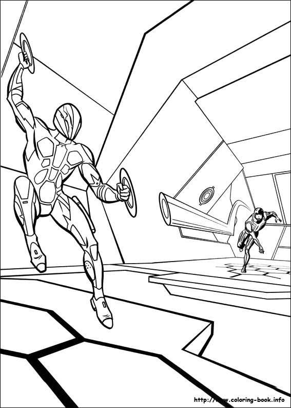 tron coloring picture - Tron Coloring Pages
