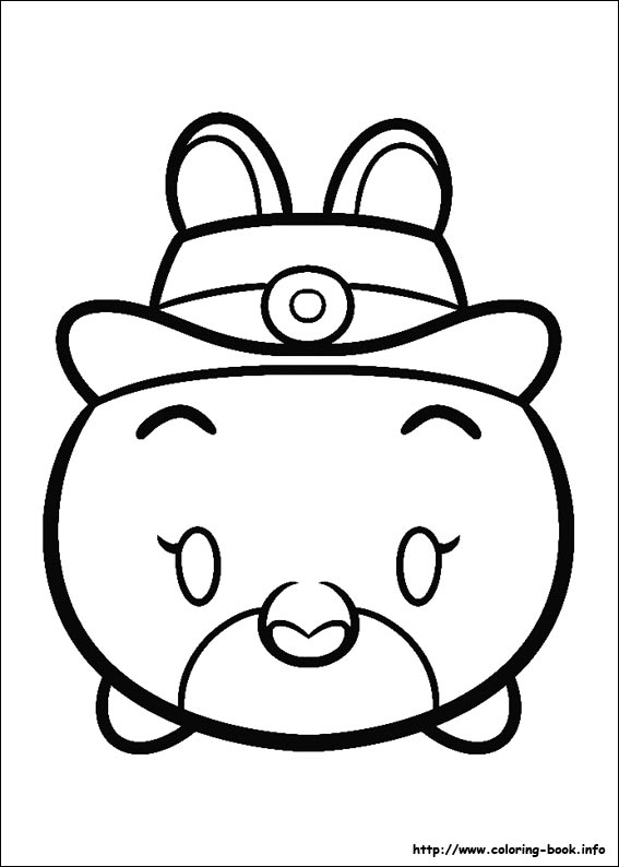 Free Printable Coloring Pages Zootopia Tsum On Book