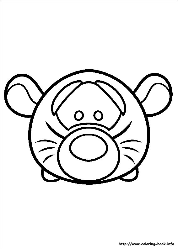 Tsum Tsum Coloring Pages On Coloring Book Info
