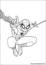 Ultimate SpiderMan coloring pages on ColoringBookinfo