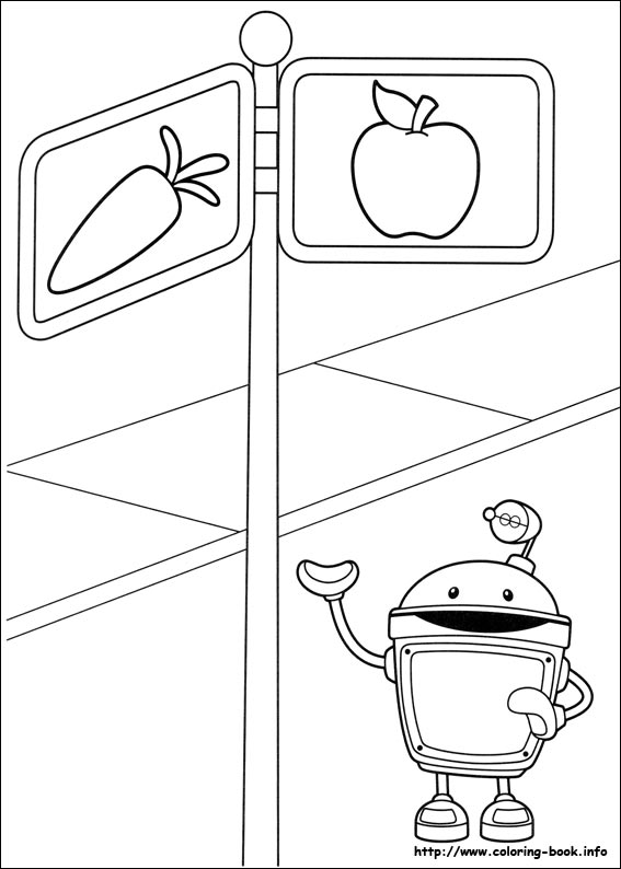index coloring pages - Team Umizoomi Bot Coloring Pages