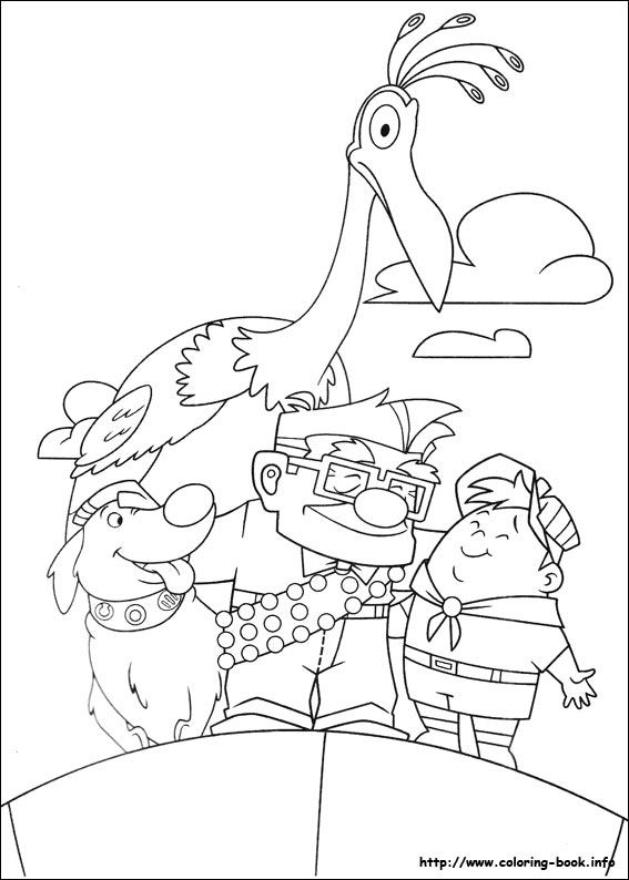 Up coloring pages on Coloring Bookinfo