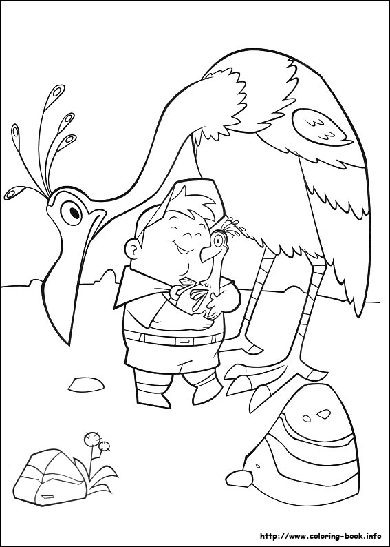 kevin up coloring page