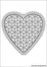 Valentine\'s Day coloring pages on Coloring-Book.info