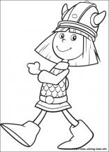 Vicky the Viking coloring pages on Coloring Bookinfo