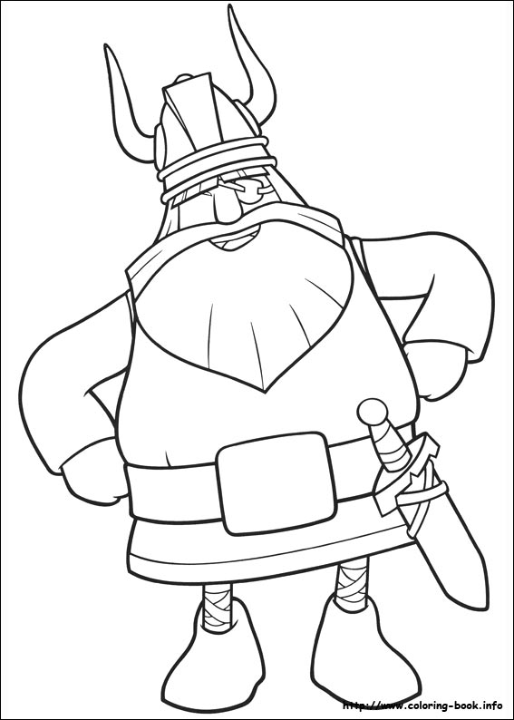 The Viking Coloring Picture
