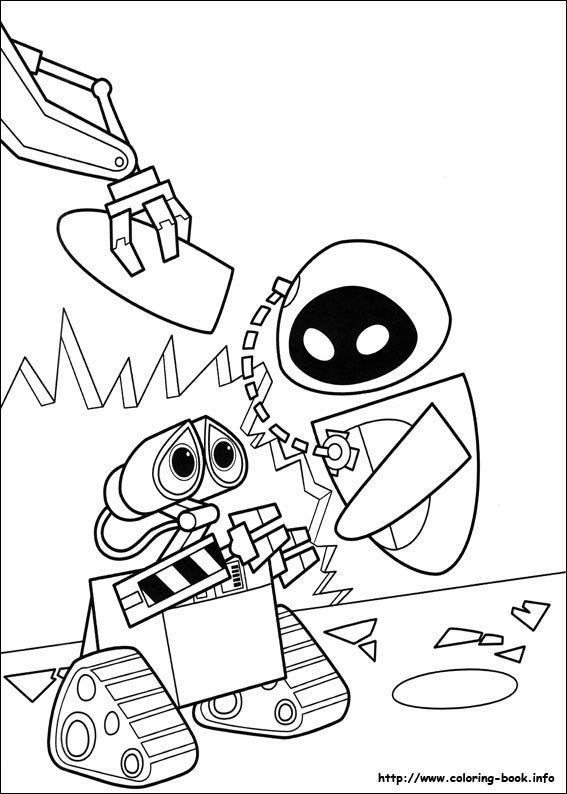 Wall E Coloring Picture