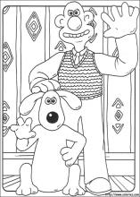 Wallace and Gromit coloring pages on ColoringBookinfo