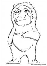 Where the wild things are coloring pages on ColoringBookinfo