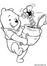 Winnie the Pooh coloring pages on ColoringBookinfo