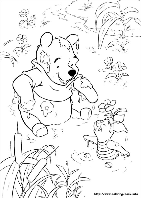 Winnie the Pooh coloring pages on Coloring Bookinfo
