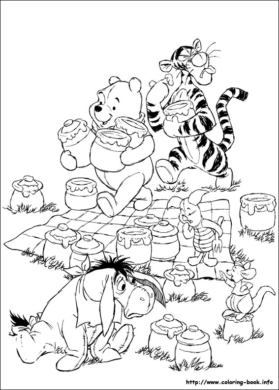 winnie the pooh coloring pages on coloring book info