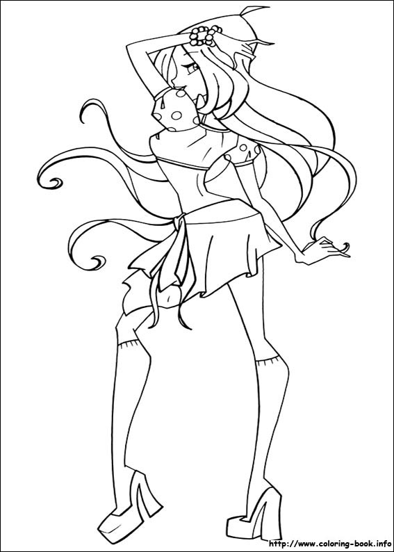 Kleurplaten Winx Trix.Winx Club Coloring Pages On Coloring Book Info