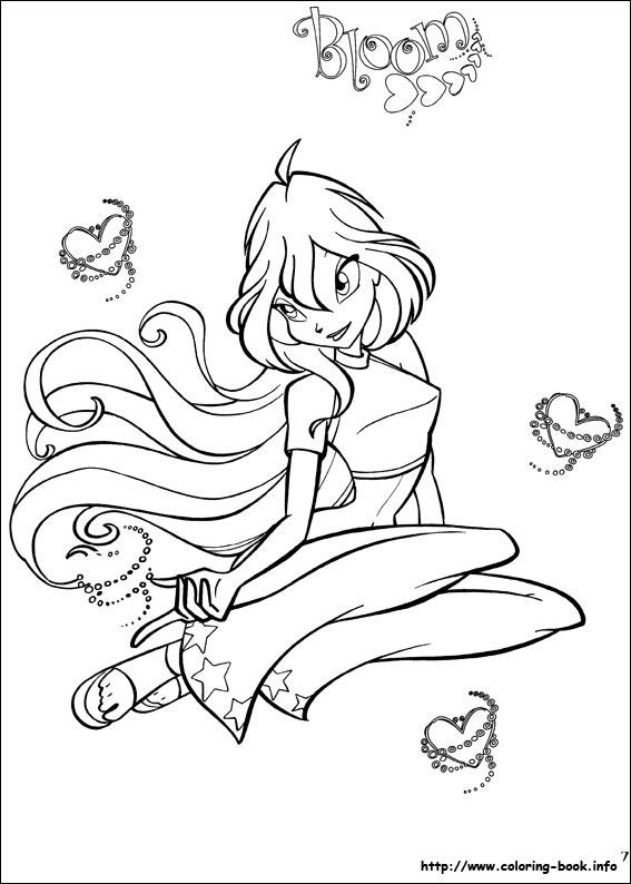 Феи Винкс и Анимешники, раскраски (winx coloring)