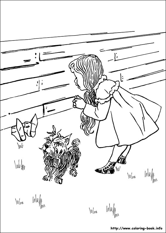 the wizard of oz coloring picture