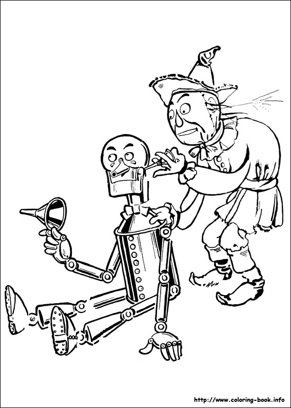 The Wizard of Oz coloring pages on ColoringBookinfo