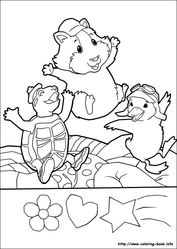Pets coloring picture