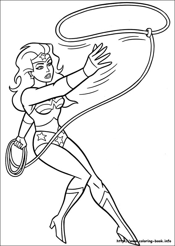 Wonder Woman coloring pages on Coloring-Book.info