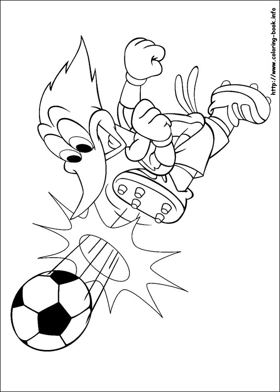 Woody Woodpecker coloring pages on ColoringBookinfo